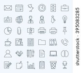 line business office icons set. ... | Shutterstock .eps vector #395083285