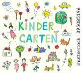 kindergarten banner with funny...