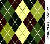 vector green argyle pattern | Shutterstock .eps vector #39508597