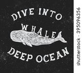 vintage label with whale... | Shutterstock .eps vector #395096356