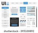 ui template | Shutterstock . vector #395100892