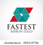 fast ribbon of delivery... | Shutterstock .eps vector #395119756