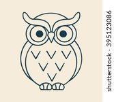 Owl Outline Illustration Vector