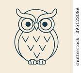 owl outline illustration vector | Shutterstock .eps vector #395123086