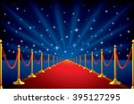 red carpet with a starry... | Shutterstock .eps vector #395127295