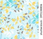 flower floral seamless  pattern    Shutterstock .eps vector #395138806