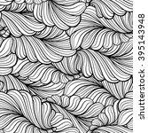 black and white vector leaves... | Shutterstock .eps vector #395143948