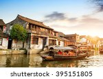 xitang ancient town   xitang is ... | Shutterstock . vector #395151805