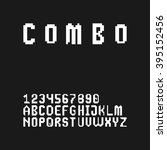 gaming style pixel font set in... | Shutterstock .eps vector #395152456