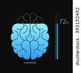 brain loading vector indicator. | Shutterstock .eps vector #395152492