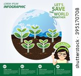 infographic template. ecology... | Shutterstock .eps vector #395170708