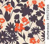 seamless floral pattern | Shutterstock .eps vector #395172166