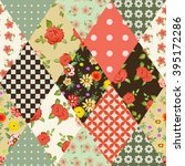 seamless floral patchwork... | Shutterstock .eps vector #395172286