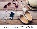 hats  shoes and accessories to... | Shutterstock . vector #395172742
