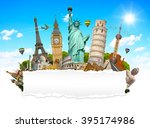 famous monuments of the world... | Shutterstock . vector #395174986
