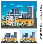 building construction... | Shutterstock .eps vector #395175562