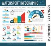 water sport infographcis flat... | Shutterstock .eps vector #395178208