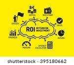 roi return on investment. chart ... | Shutterstock .eps vector #395180662