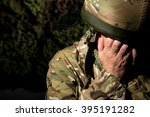 british soldier with head in... | Shutterstock . vector #395191282