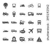 transport icon set | Shutterstock .eps vector #395192542