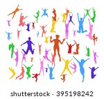victory is ours together we... | Shutterstock .eps vector #395198242