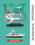 private travel flat vector ... | Shutterstock .eps vector #395205442