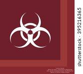 biohazard symbol vector sign... | Shutterstock .eps vector #395216365