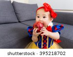 Asian Baby Girl With Halloween...