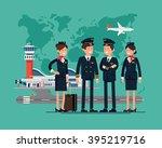 international aviation themed...   Shutterstock .eps vector #395219716