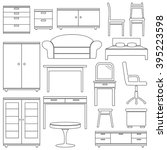 set of furniture icons  vector... | Shutterstock .eps vector #395223598