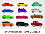 car icon set. twelve vehicles... | Shutterstock .eps vector #395225815