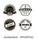 eco labels in vintage retro... | Shutterstock .eps vector #395239762