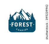 forest camping. retro logo | Shutterstock .eps vector #395239942