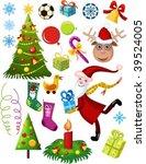 christmas set | Shutterstock .eps vector #39524005