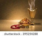 ramadan dates with censer and... | Shutterstock . vector #395254288