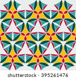 seamless pattern with mandala... | Shutterstock .eps vector #395261476