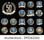 anniversary badges. set of... | Shutterstock .eps vector #395262262