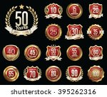 anniversary badges. set of... | Shutterstock .eps vector #395262316