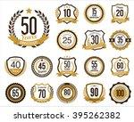 anniversary badges. set of... | Shutterstock .eps vector #395262382