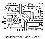 circuit board | Shutterstock .eps vector #39526255