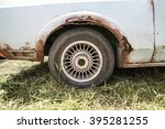 Old Car With Rust On Body Close ...