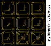 vector frames borders art deco... | Shutterstock .eps vector #395285788