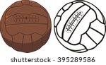 vintage soccer ball | Shutterstock .eps vector #395289586