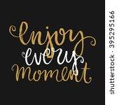 vector calligraphy. hand drawn... | Shutterstock .eps vector #395295166