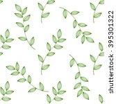 green leaves seamless  | Shutterstock .eps vector #395301322