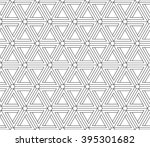 illusion triangles pattern ... | Shutterstock .eps vector #395301682
