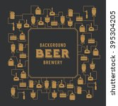 beer brewery elements  icons ... | Shutterstock .eps vector #395304205