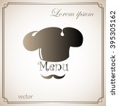 chef with a mustache  menu  icon | Shutterstock .eps vector #395305162