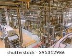 equipment for brewing beer on... | Shutterstock . vector #395312986