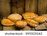 selection of pies  pasties and... | Shutterstock . vector #395323162